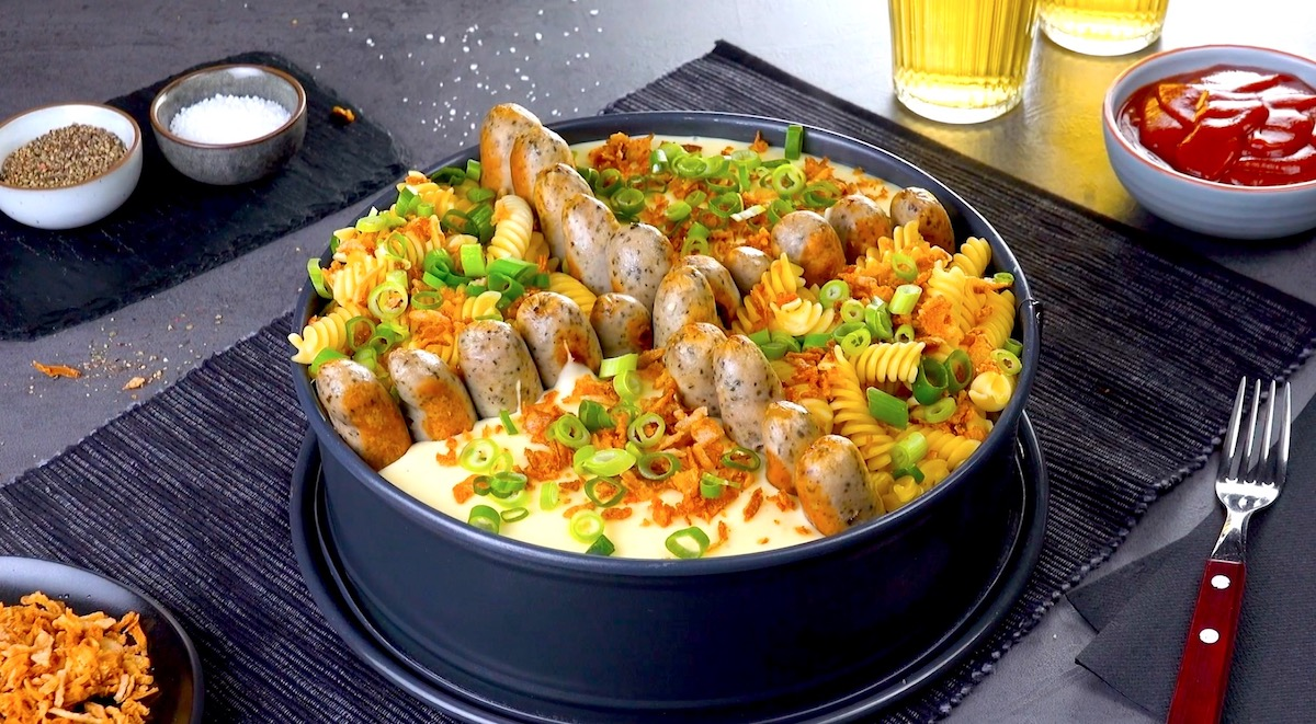 Swiss Beer Fondue With Sausage Dippers