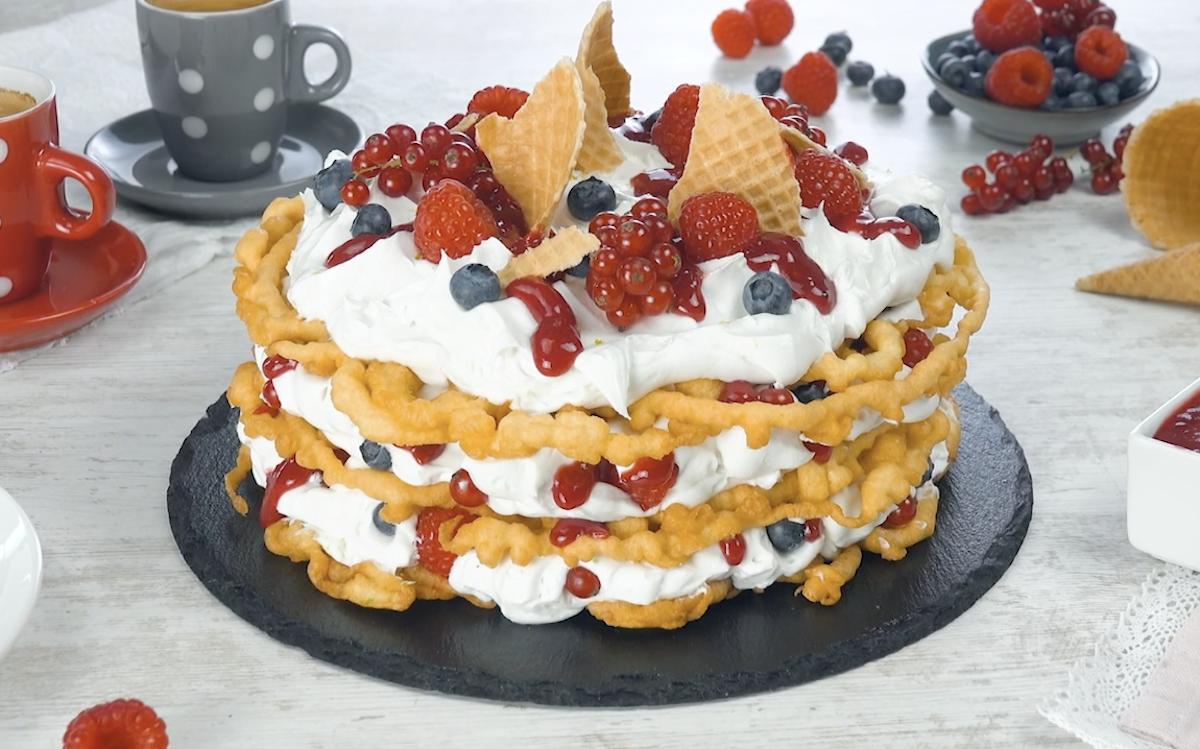 Triple Berry Funnel Cake