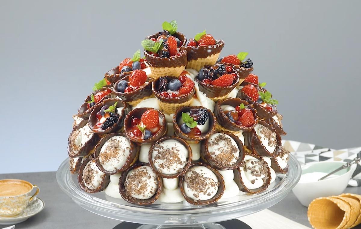 Wild Berry Waffle Cone Cake
