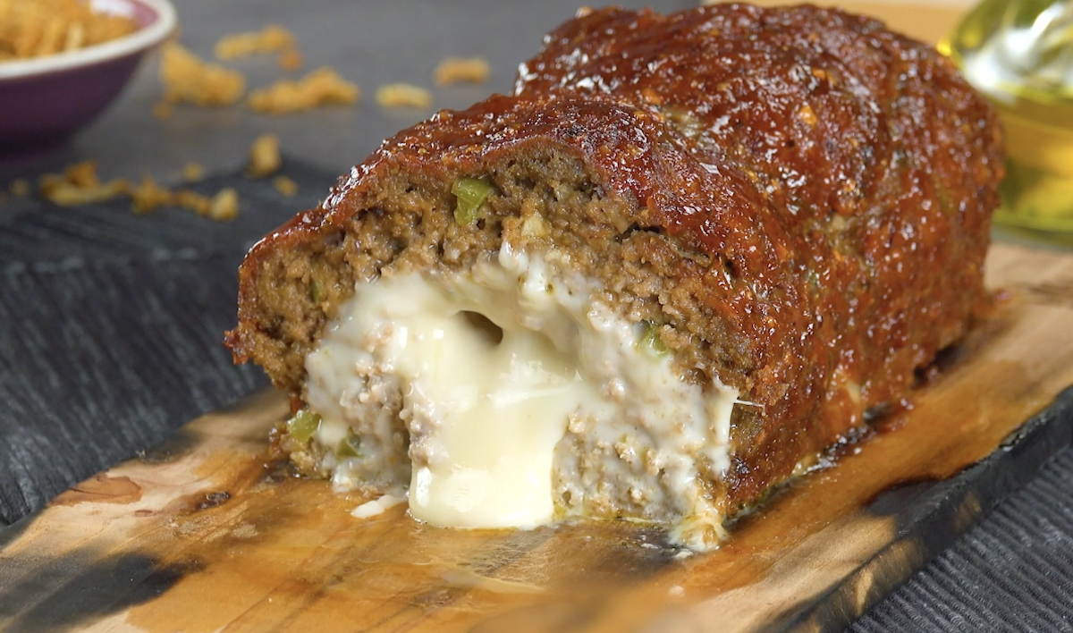 Smoked Meatloaf In A Jack Daniel's BBQ Sauce