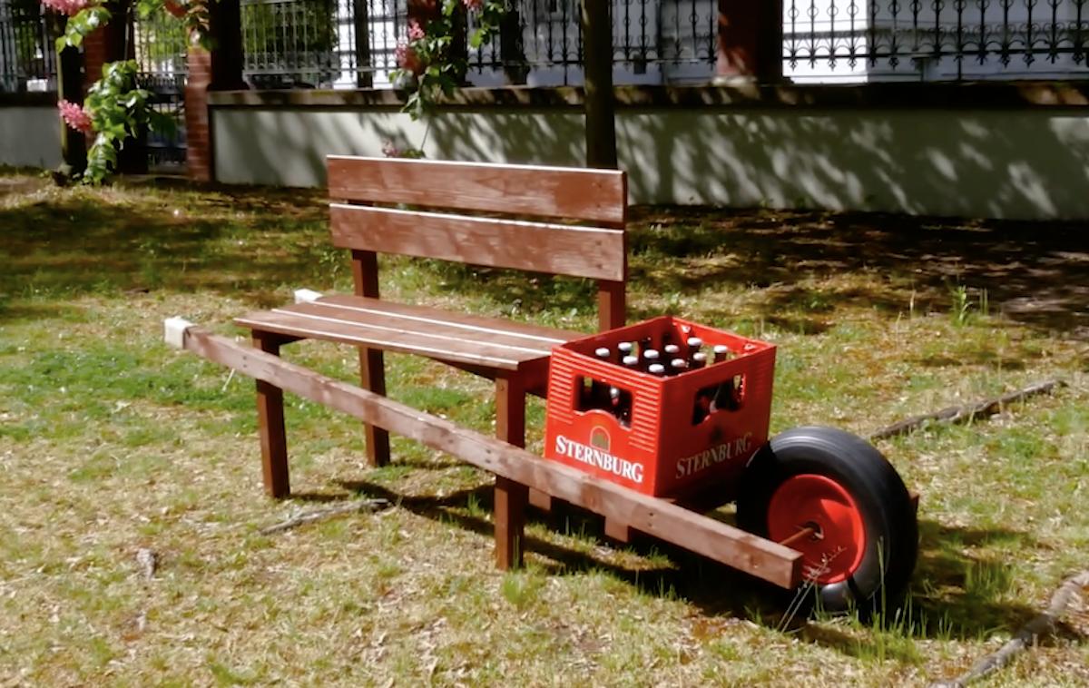 DIY Mobile Bench