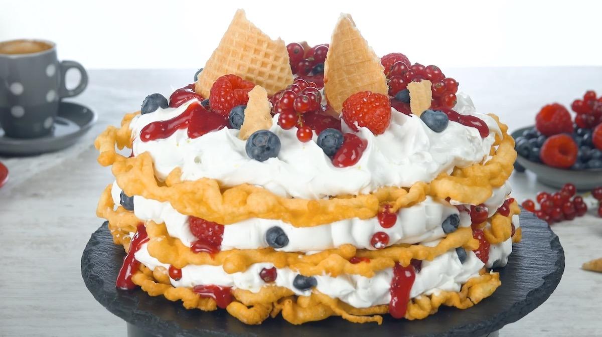 Triple Layer Funnel Cake
