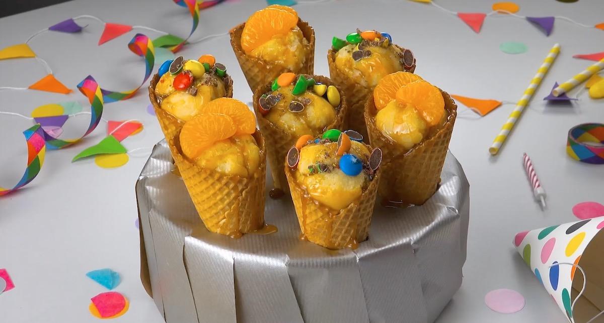 Fanta Cake In A Cone