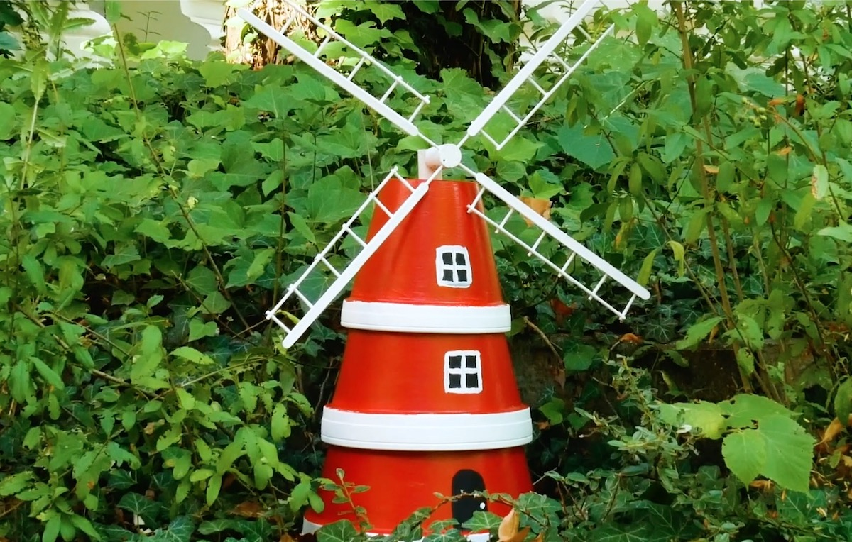 Windmill Made From Flower Pots