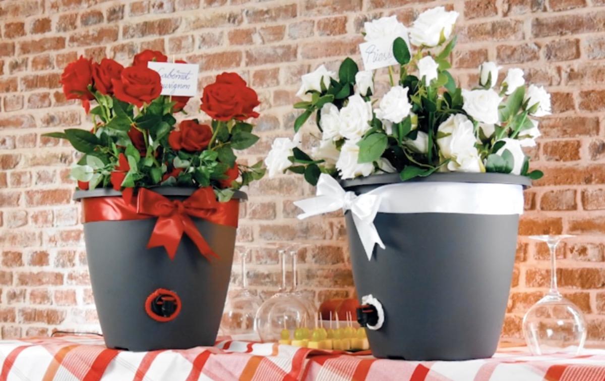 Flower Pot Wine Dispenser
