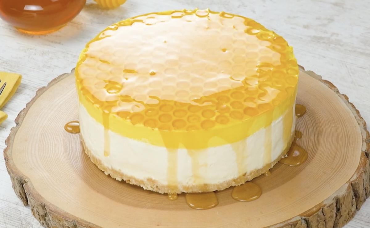 No-Bake Honeycomb Cheesecake