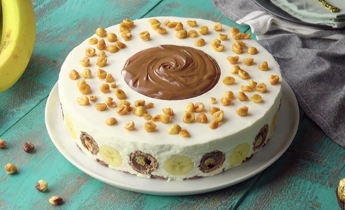 Banana Hazelnut Mascarpone Cake