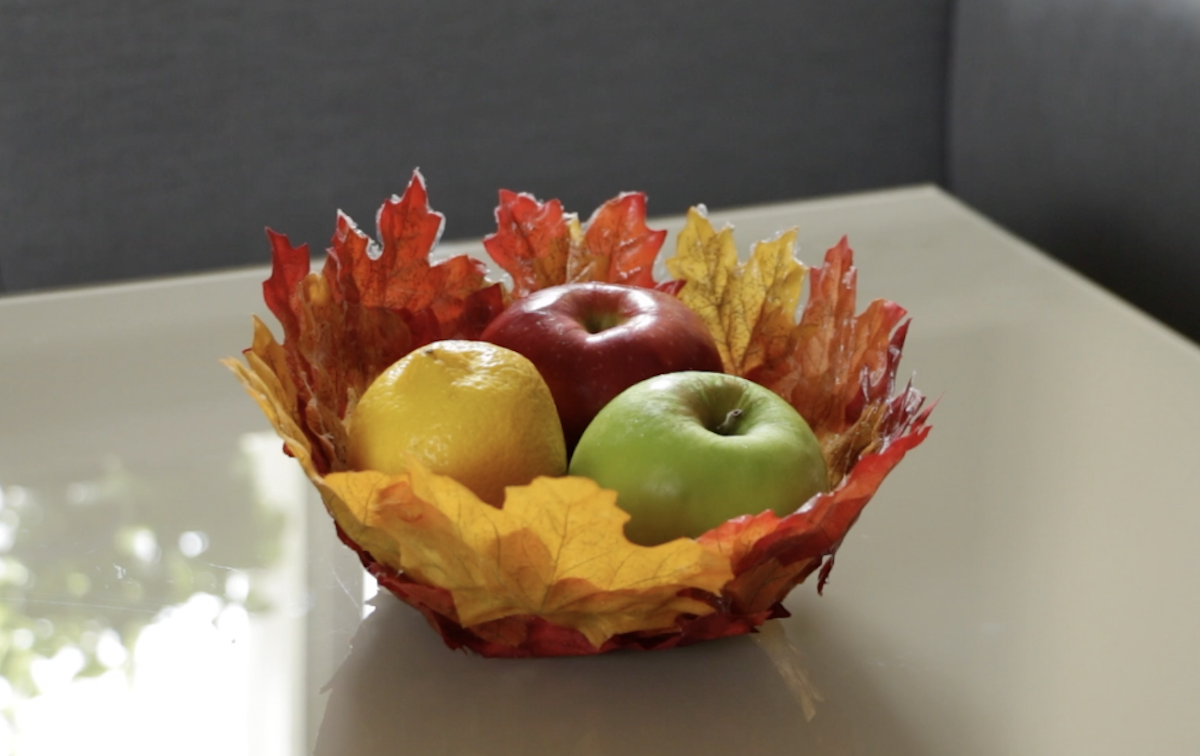 DIY Fall Decorations Featuring Leaves